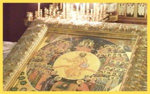 The icon of our patronal feast was received on the Sunday of Orthodoxy