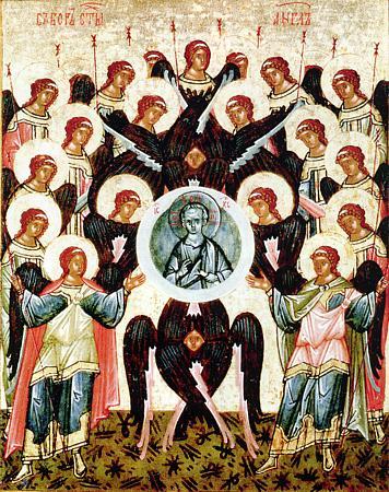 Собор Архистратига Михаила и прочих Небесных Сил бесплотных: Архангелов Гавриила, Рафаила, Уриила, Селафиила, Иегудиила, Варахиила и Иеремиила.